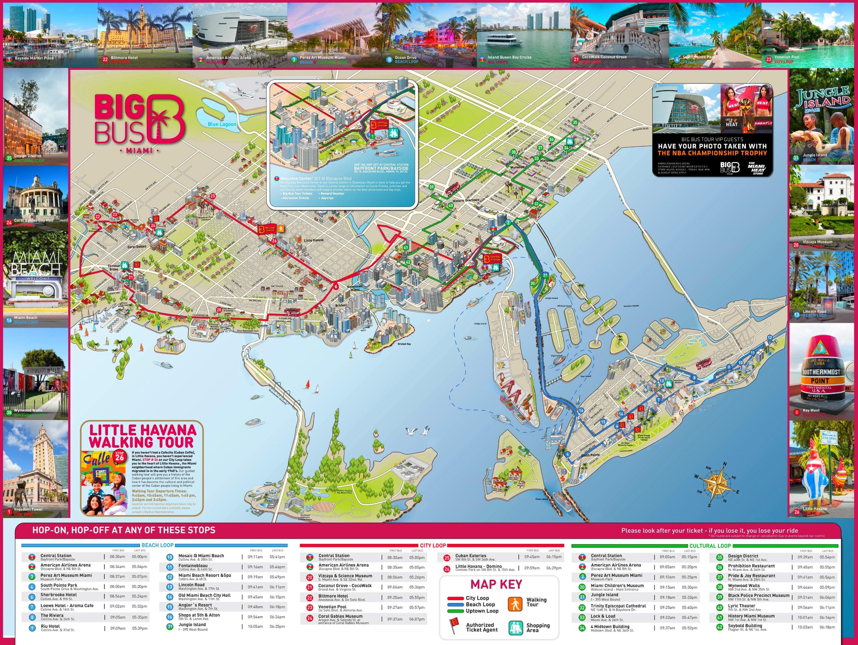 miami turismo mapa - cidade de turismo miami mapa (florida